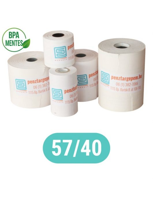 Pénztárgépszalag 57/40/12 Thermo 48g/m2  BPA mentes