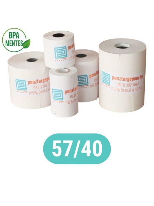 Pénztárgépszalag 57/40/12 (17m) Thermo 48g/m2 BPA mentes