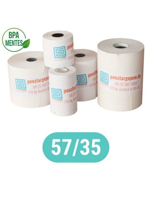 Pénztárgépszalag 57/35/12 Thermo 48g/m2  BPA mentes (BANKKÁRTYA TERMINÁLOKBA VALÓ MÉRET)