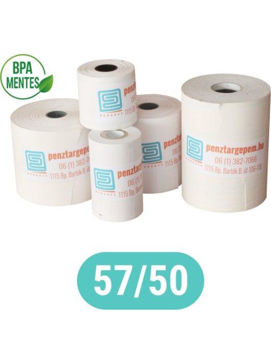 Pénztárgépszalag 57/50/12 Thermo 48g/m2 BPA mentes