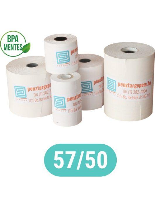 Pénztárgépszalag 57/50/12 (28m) Thermo 48g/m2 BPA mentes