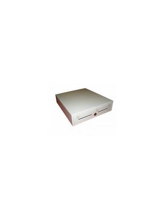 Használt 4 rekeszes kasszafiók FEHÉR (FISCAT, SAM4S, CASHBOX, CASHCUBE, ELCOM, MICRA, MONTEL stb)
