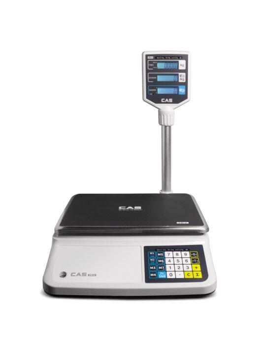 CAS PRII 15 kg-os tornyos mérleg hitelesítéssel RS-232 (pénztárgéppel összeköthető)