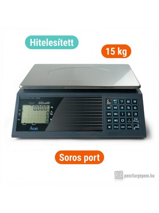ACLAS PS1C 15 kg-os lapos mérleg soros porttal (pénztárgéppel összeköthető)