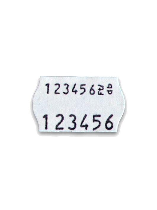 Árazó címke 26 x 16 fehér, kétsoros, kerekített (OPEN S14)
