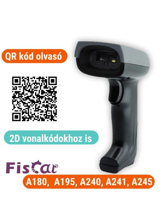 2D vonalkódolvasó (QR kódos) Fiscat/CashBox pénztárgépekhez (A195, A240, A241, A245) Serial