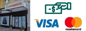 Készpénzzel vagy bankkártyával személyes átvételkor az üzletben